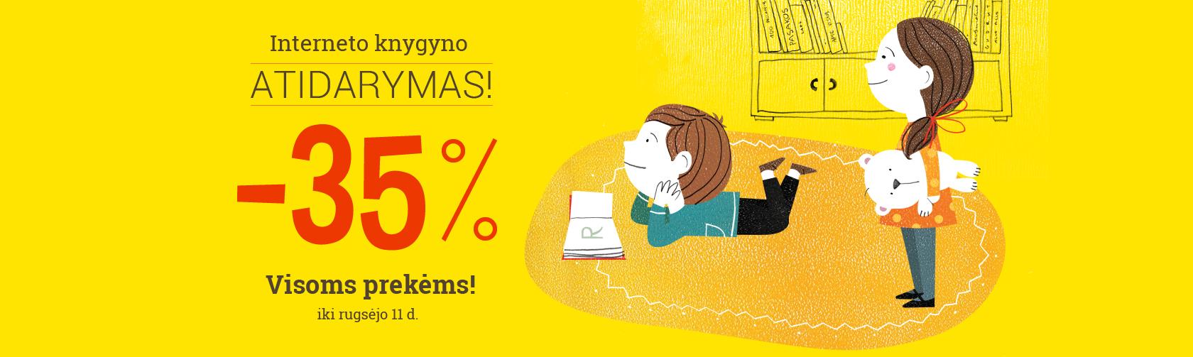 Visoms prekėms -35%