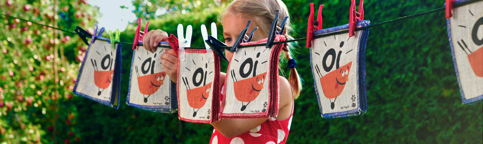 Lininė skalbiama knyga vaikams