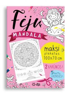 Maksi spalvinimo plakatas Fėjų Mandala