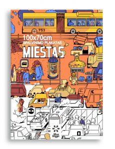 Maksi spalvinimo plakatas Miestas