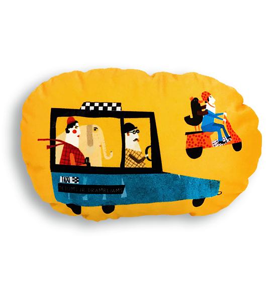 Taksi masina su drambliu_laime yra lape
